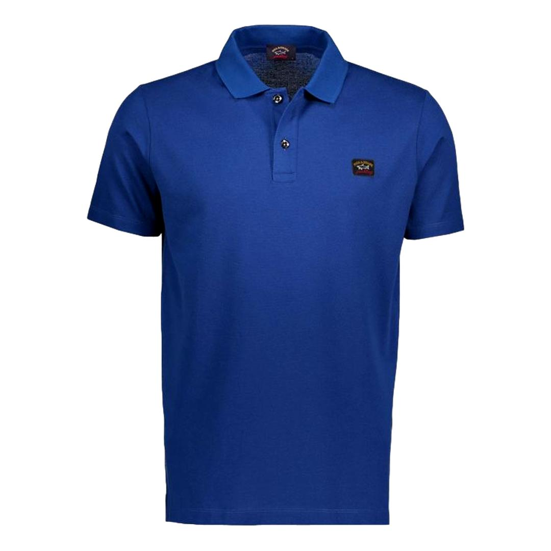 PAUL SHARK Polo in cotone pique organico COLORE BLUETTE COP1000