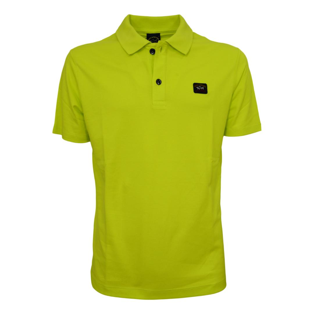 PAUL SHARK Polo in cotone pique organico COLORE LIME COP1000