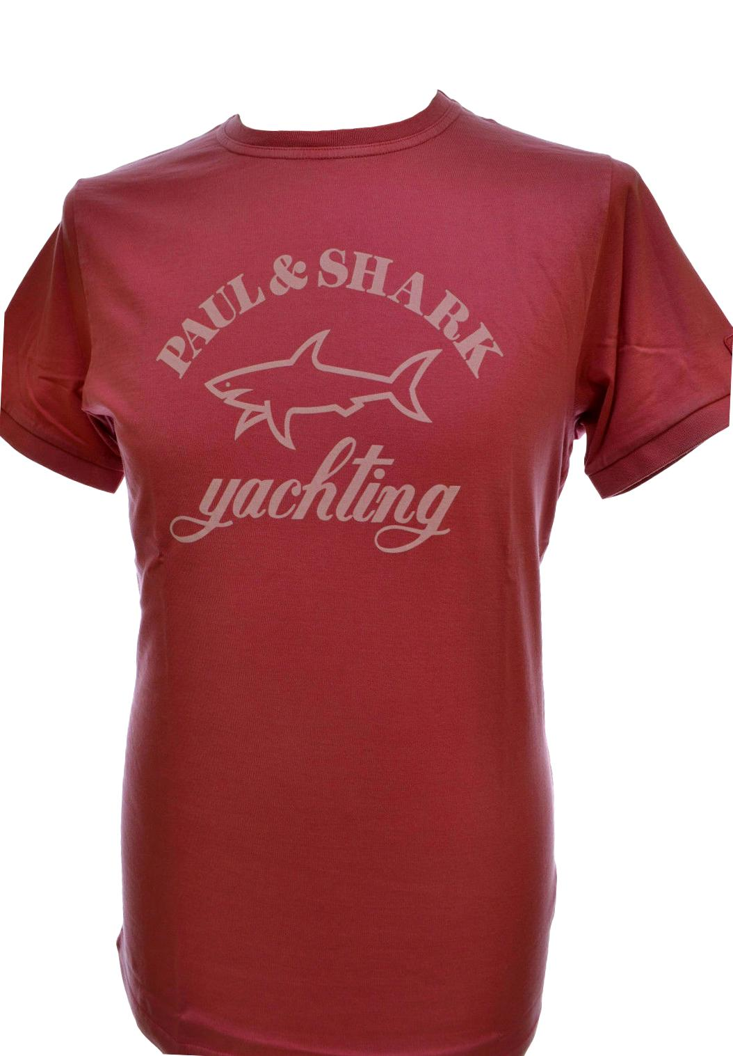 PAUL SHARK YACHTING T SHIRT E15P0163SF COL. 280 RED LIGHT SLIM FIT TG. L