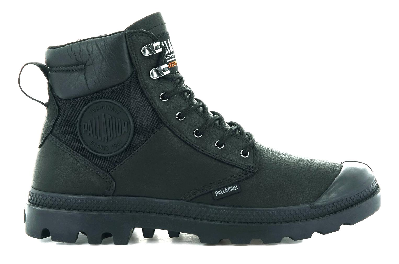 PALLADIUM SCARPONCINI UOMO PAMPA SHIELD WP LTH COLORE BLACK