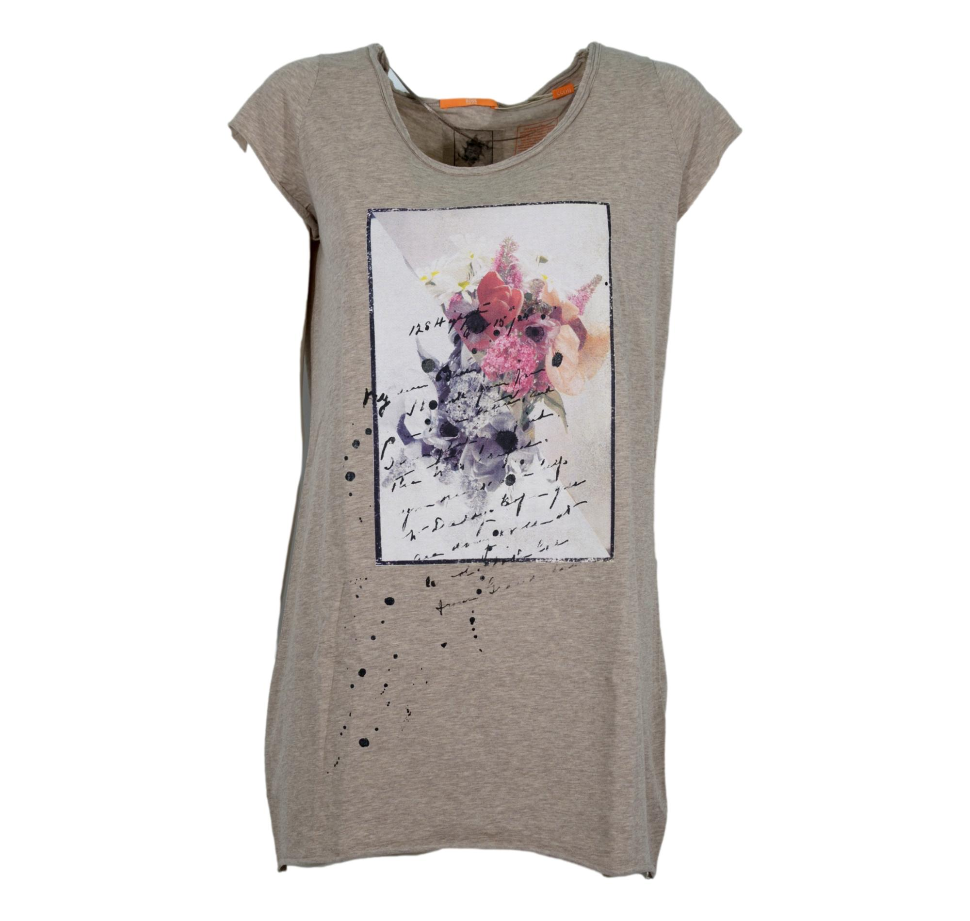 HUGO BOSS T-SHIRT DONNA COLORE BEIGE art. 50249102