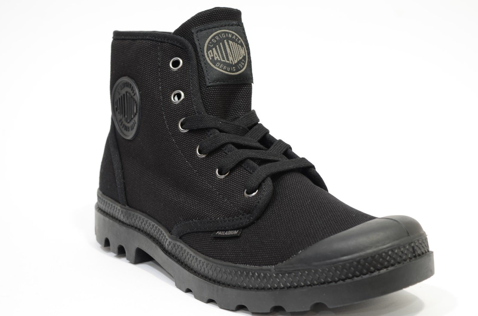 PALLADIUM DONNA PAMPA HI Style 92352-060-M STRING NERO PACAL0025 COTTON CANVAS