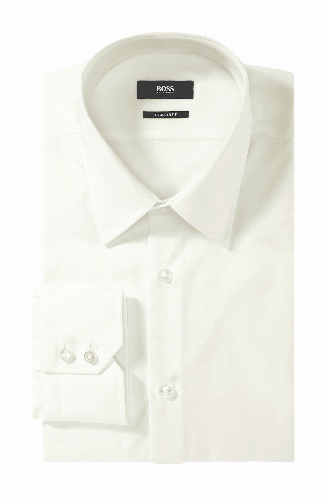 HUGO BOSS CAMICIA UOMO MOD ENZO Camicia business Regular-Fit Facile stiro BIANCO