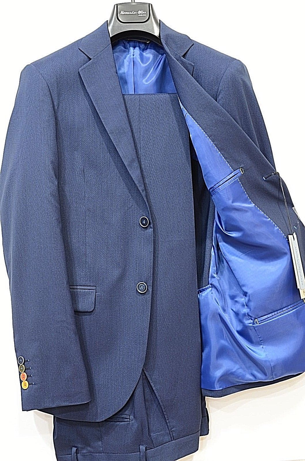 ALESSANDRO GILLES ABITO UOMO SLIM FIT MADE IN ITALY ART. A22C 0150 BLU MICROFANT