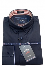 Paul Shark Camicia Uomo Botton Down Slim Fit P16P1308SF Col. 130 Blu