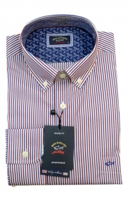 Paul Shark Camicia Uomo Botton Down Slim Fit P16P3012SF Col. 130 Blu