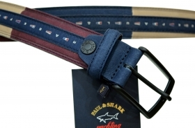 PAUL SHARK BELT CINTURA IN PELLE MISURA 140  P6027 COL. 101 CON BOX
