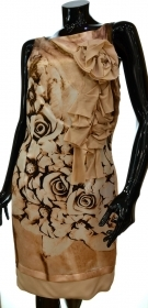 CRISTINAEFFE ABITO DONNA MOD. MAXI ROSA TG 46 BEIGE MADE IN ITALY DRESS WOMAN