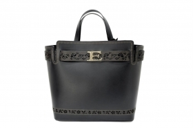 ERMANNO SCERVINO BORSA IN PELLE DONNA 12400649 HANDBAG ELSA BLACK