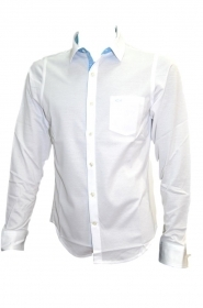 Paul Shark Yachting Polo camicia p17p1834sf col. 010 Bianco SLIM FIT