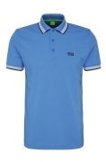 HUGO BOSS POLO UOMO REGULAR-FIT TAGLIA S MOD. PADDY IN PIQUE' COLORE BLUE