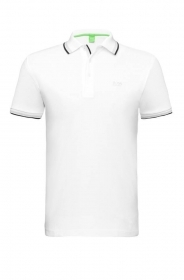 HUGO BOSS POLO UOMO REGULAR-FIT MOD. PADDY IN PIQUE' COLORE BIANCO WHITE