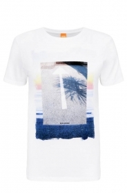 HUGO BOSS Maglietta T SHIRT con stampa regular fit in cotone: 'Tintype 2'