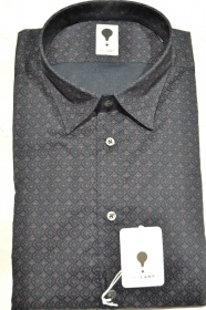 CAMICIA UOMO DE LAMP MOD. SLIM FIT FANTASIA ELAST. 1221 - SHIRT MADE IN ITALY