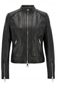 HUGO BOSS Giubbotto Donna biker regular fit Pelle d'agnello Junique1 - 50395715