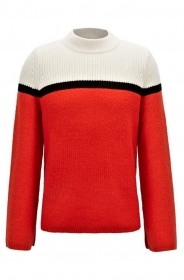 HUGO BOSS Maglione Donna righe grosse colletto a tartaruga  Issamay - 50391779