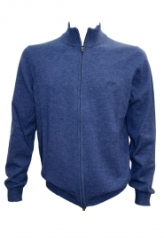 HUGO BOSS Cardigan con zip in lana vergine BLUE 473 Modello EGUSTO - 50391606