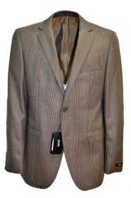 HUGO BOSS GIACCA UOMO 50169117 QUADRO GALLES CON TOPPA TAGLIA 50 REGULAR FIT