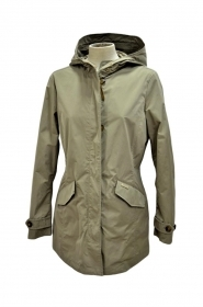 WOOLRICH W'S SUMMER PARKA COLORE BEIGE GIACCA IMPERMEABILE DONNA WWCPS2733