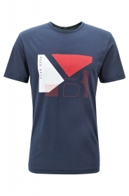 HUGO BOSS T-shirt regular fit in cotone con grafica a blocchi RED Tee 2 50404402