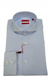 HUGO BOSS Camicia regular fit colletto francese CELESTE Modello Vepic 50405135