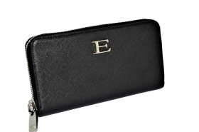 ERMANNO SCERVINO PORTAFOGLIO 12600172 LARGE ZIP AROUND WALLET EMANUELA BLACK ZIP