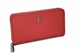 ERMANNO SCERVINO PORTAFOGLIO 12600172 LARGE ZIP AROUND WALLET EMANUELA RED ZIP