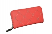 ERMANNO SCERVINO PORTAFOGLIO 12600167 LARGE ZIP AROUND WALLET ELVIRA RED ZIP