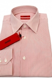 Hugo Boss Camicia REGULAR FIT cotone Mod. C-Enzo RIGA ROSSA 50381794