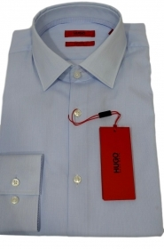 HUGO BOSS Camicia slim fit facile stiro cotone C-Joey 50381789 459 riga celeste