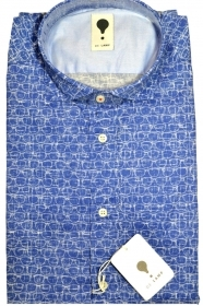 CAMICIA UOMO DE LAMP MOD, SLIM FIT con motivo occhiali mod. 1655 MADE IN ITALY