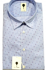 CAMICIA UOMO DE LAMP MOD, SLIM FIT ELAST. RIGATO TENNIS SHIRT MADE IN ITALY