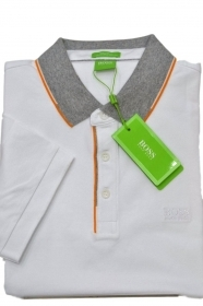 HUGO BOSS POLO UOMO REGULAR-FIT MOD. C-VARENNA IN PIQUE' COLORE BIANCO