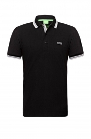 HUGO BOSS POLO UOMO REGULAR-FIT MOD. PADDY IN PIQUE' COLORE NERO BLACK