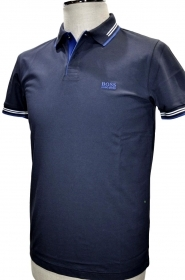 HUGO BOSS POLO BLU slim fit Co