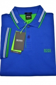 HUGO BOSS POLO slim fit Cotone elastic dettagli a contrasto PAUL 50332503 BLUE