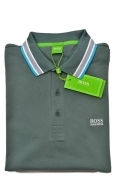 HUGO BOSS POLO UOMO REGULAR-FIT MOD. PADDY IN PIQUE' COLORE VERDE SALVIA