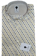 CAMICIA UOMO DE LAMP MOD, SLIM FIT con motivo pois mod. 1727 MADE IN ITALY