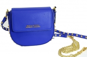 ERMANNO SCERVINO POCHETTE DONNA ROUND CROSSBODY NEW ANYA COLORE BLUE 12400428