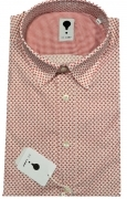 CAMICIA UOMO DE LAMP MOD, SLIM FIT micro fantasia mod. 1309  MADE IN ITALY