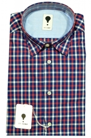 CAMICIA UOMO DE LAMP MOD, SLIM FIT micro fantasia mod. 0745  MADE IN ITALY