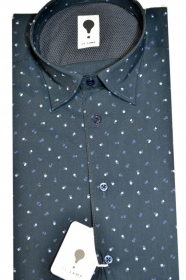 CAMICIA UOMO DE LAMP MOD, SLIM FIT micro fantasia mod. 1513  MADE IN ITALY