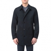 WOOLRICH NEW GIACCA LUNGA MONOPETTO TAGLIA L COLORE BLU BARROW MAC WOCPS2441