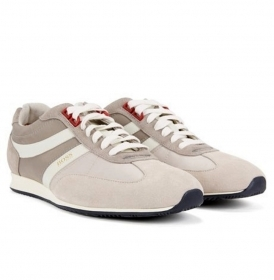 HUGO BOSS Sneakers stringate con rivestimenti in pelle scamosciata 50383637