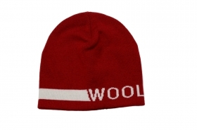 WOOLRICH Logo Reversible Beanie TG. L Colore: ROSSO MEL WOACC1537