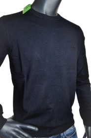 HUGO BOSS MAGLIA REGULAR FIT TAGLIA XL LAMBSWOOL C-CECIL_03 50374869 BLU SCURO