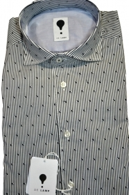 CAMICIA UOMO DE LAMP MOD, SLIM FIT riga con motivo mod. 1840 MADE IN ITALY
