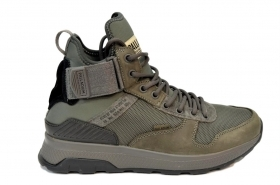 PALLADIUM AX_EON ARMY RUNNER MID DARK GULL GRAY/BLACK/RAVEN