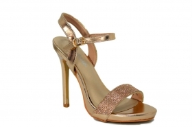 VERDE FASHION SCARPE DONNA SANDALO ELEGANTE COLORE ROSE GOLD 2795