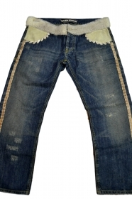 JEANS DONNA CON APPLICAZIONI  IN PELLICCIA TG. SIZE 26 JEANS WITH FUR DETAILS